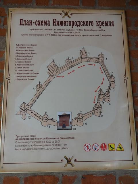 План-схема Нижегородского кремля