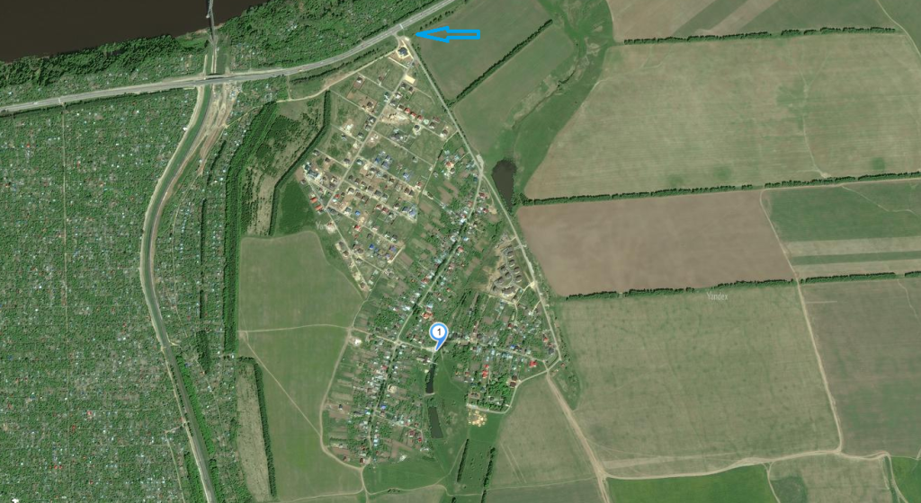 карта с точным местонахождением источника