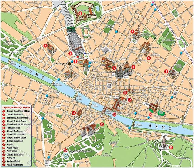 карта Флоренции.