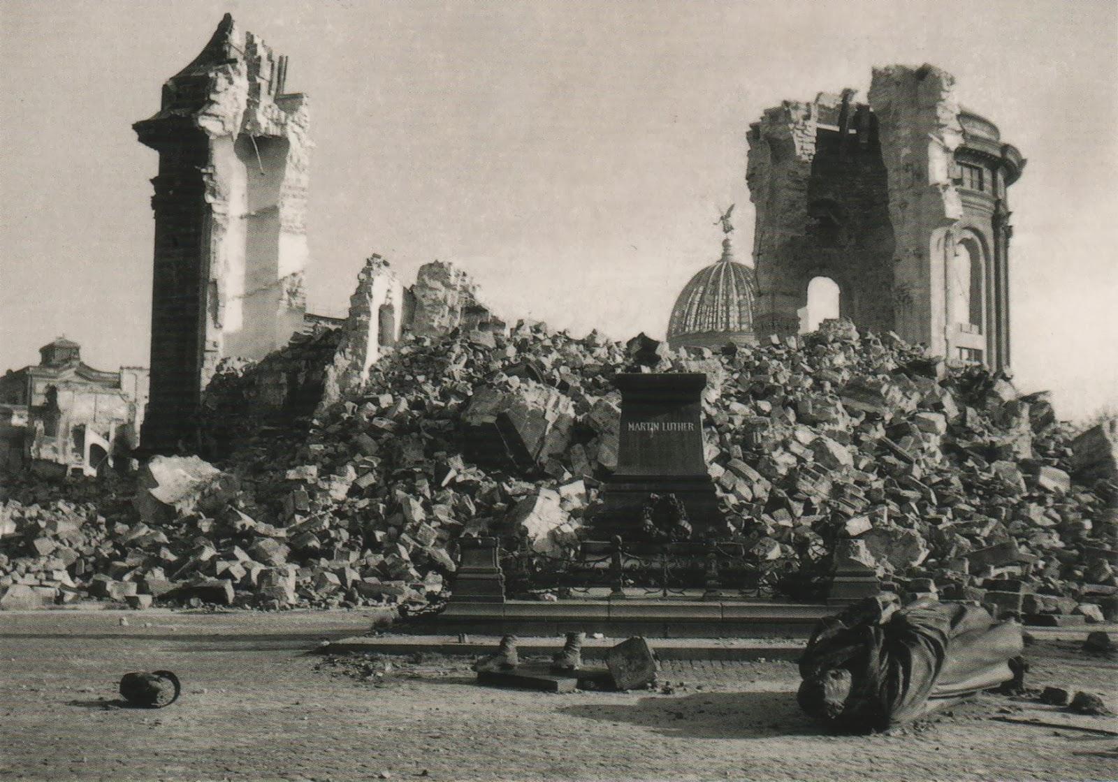 церковь Богородицы в дрездене после обстрела