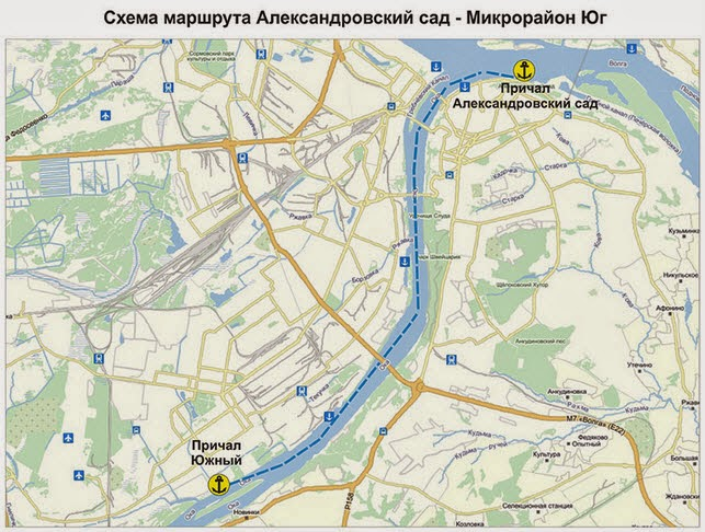 маршрут речного трамвайчика Нижний Новгород