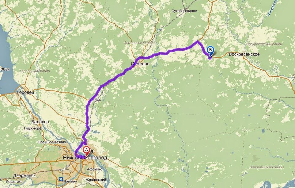 карта Нижний новгород - светлояр