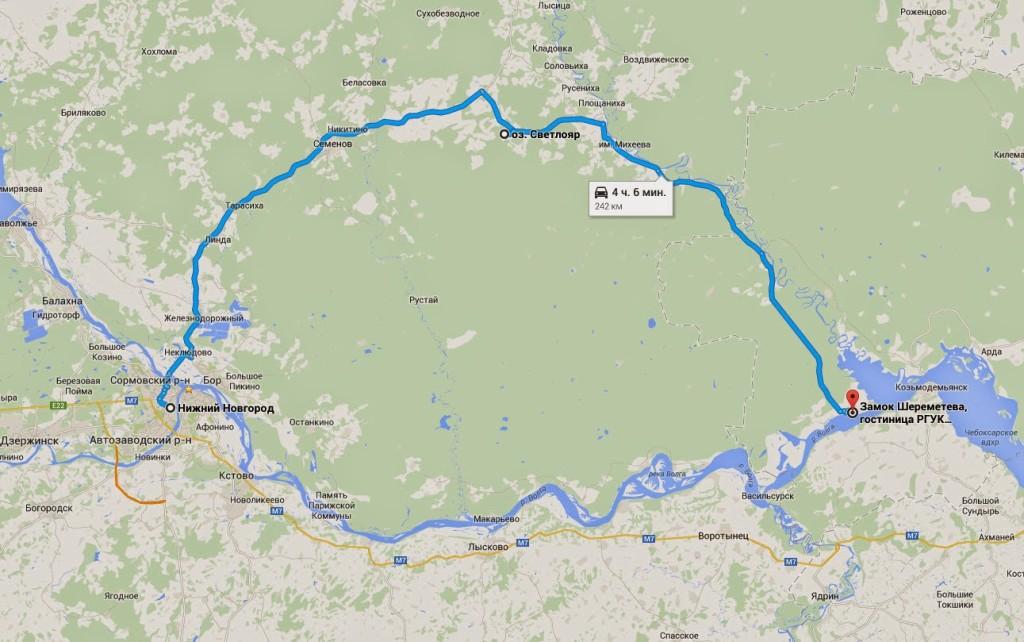 маршрут поездки в замок шереметева