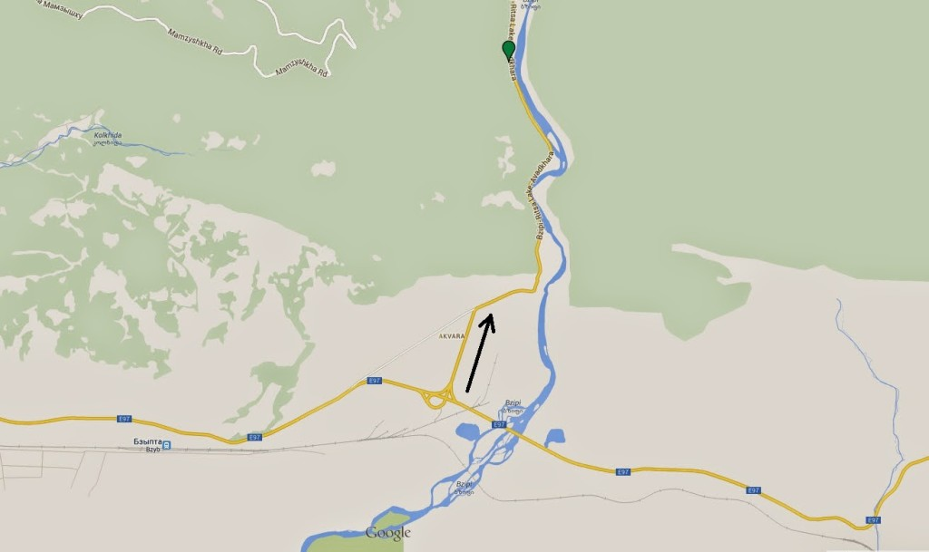 карта поездки на рицу