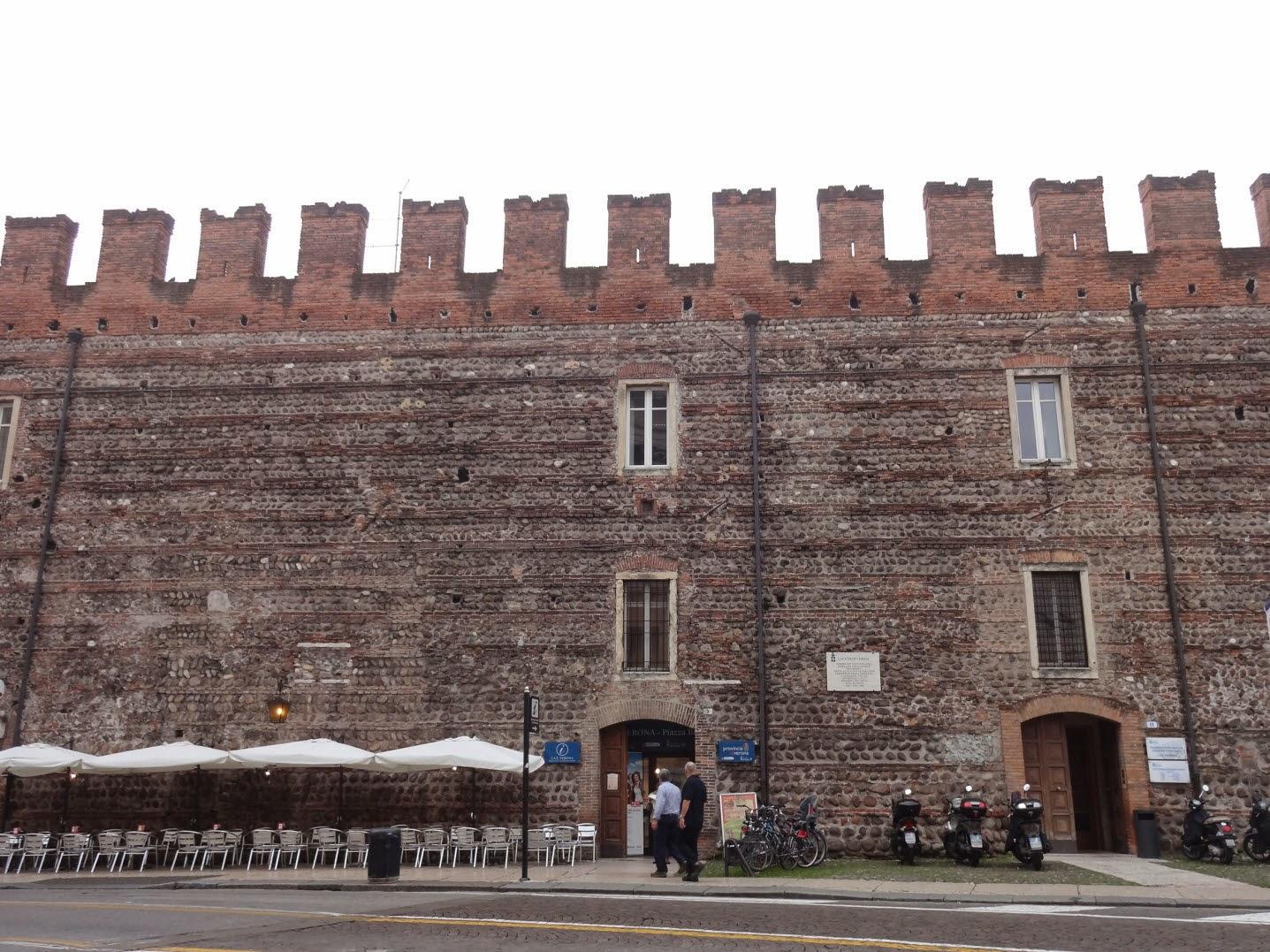 часть городской стены верона