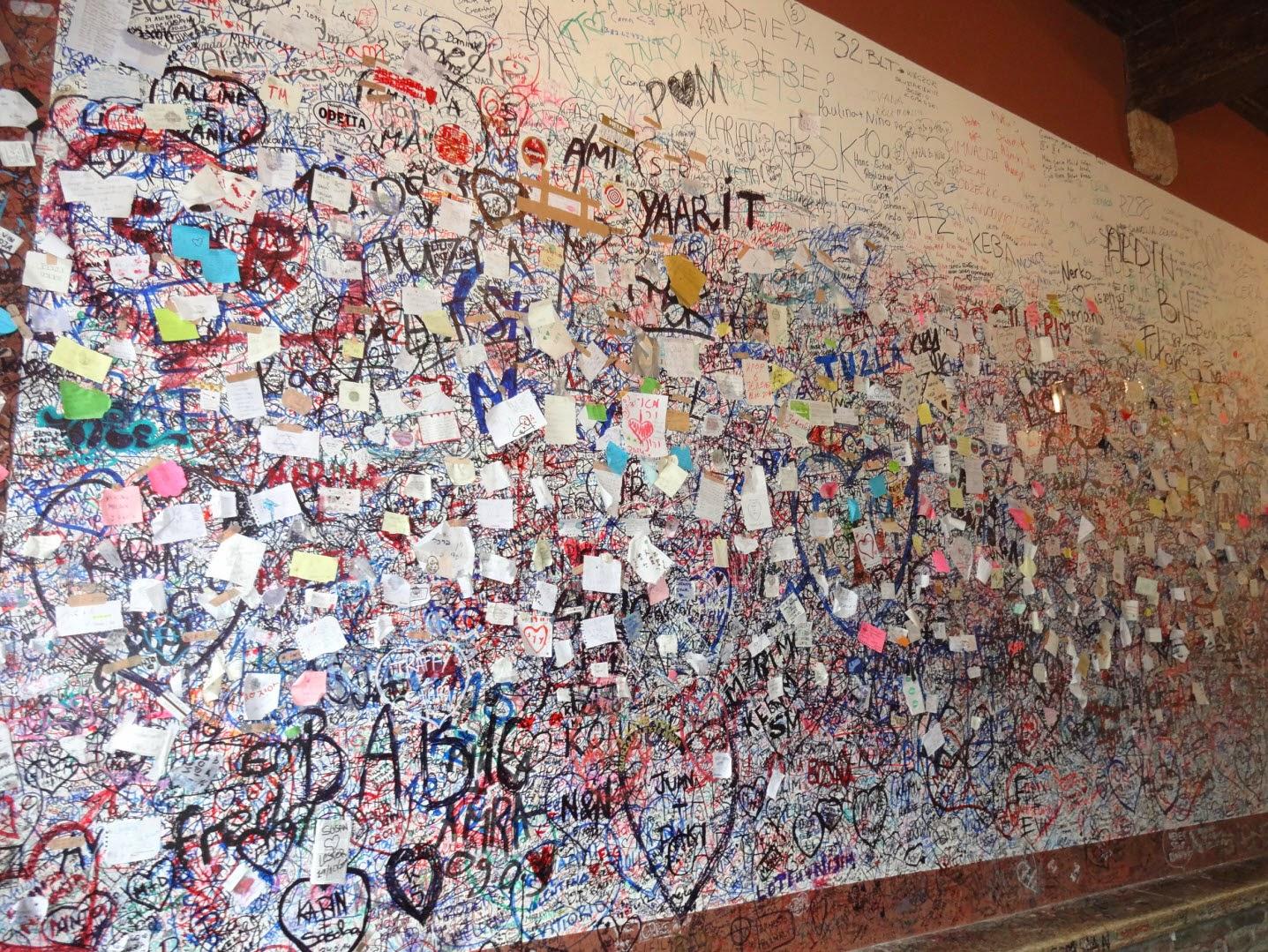 стена джульетты верона