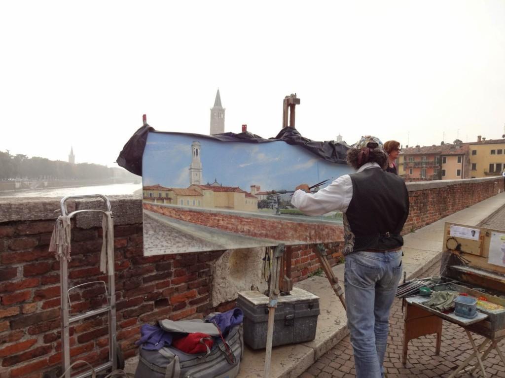 художник на мосту понто пьетре