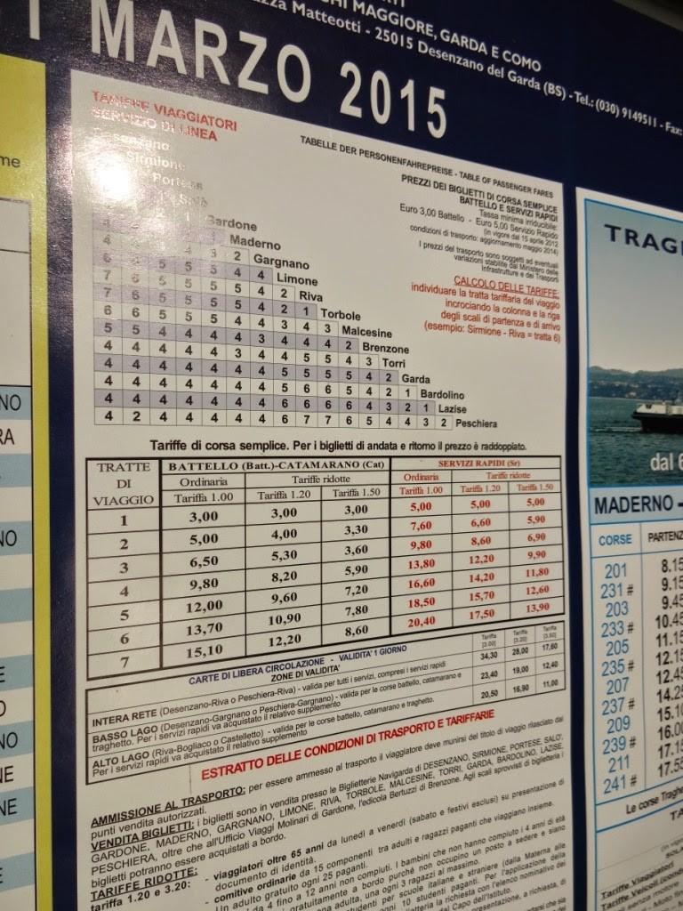 график водного транспорта озеро гарда