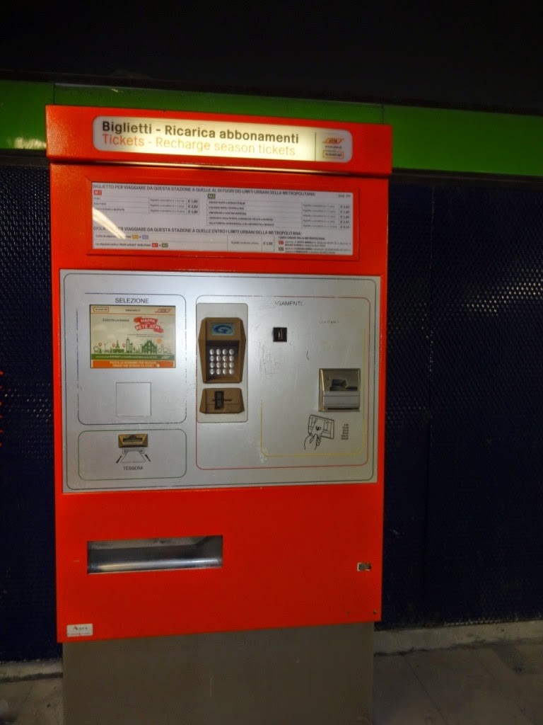 автомат покупки билетов милан