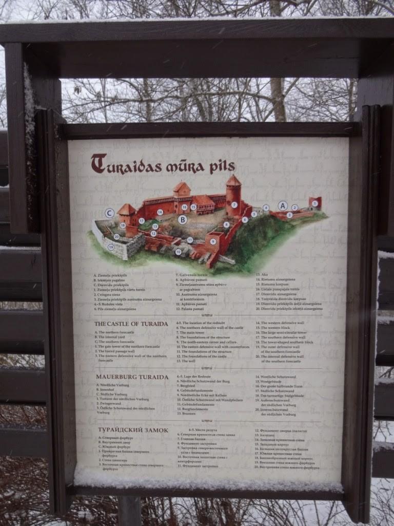 турайдский замок карта