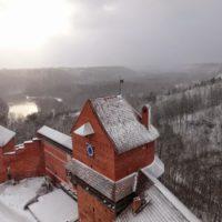 Турайдский замок и горнолыжная трасса в Сигулде.