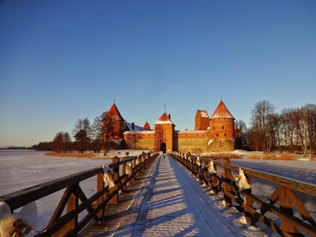 тракайский замок мост
