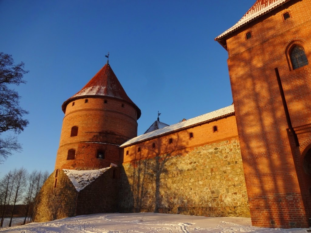 тракайский замок зимой