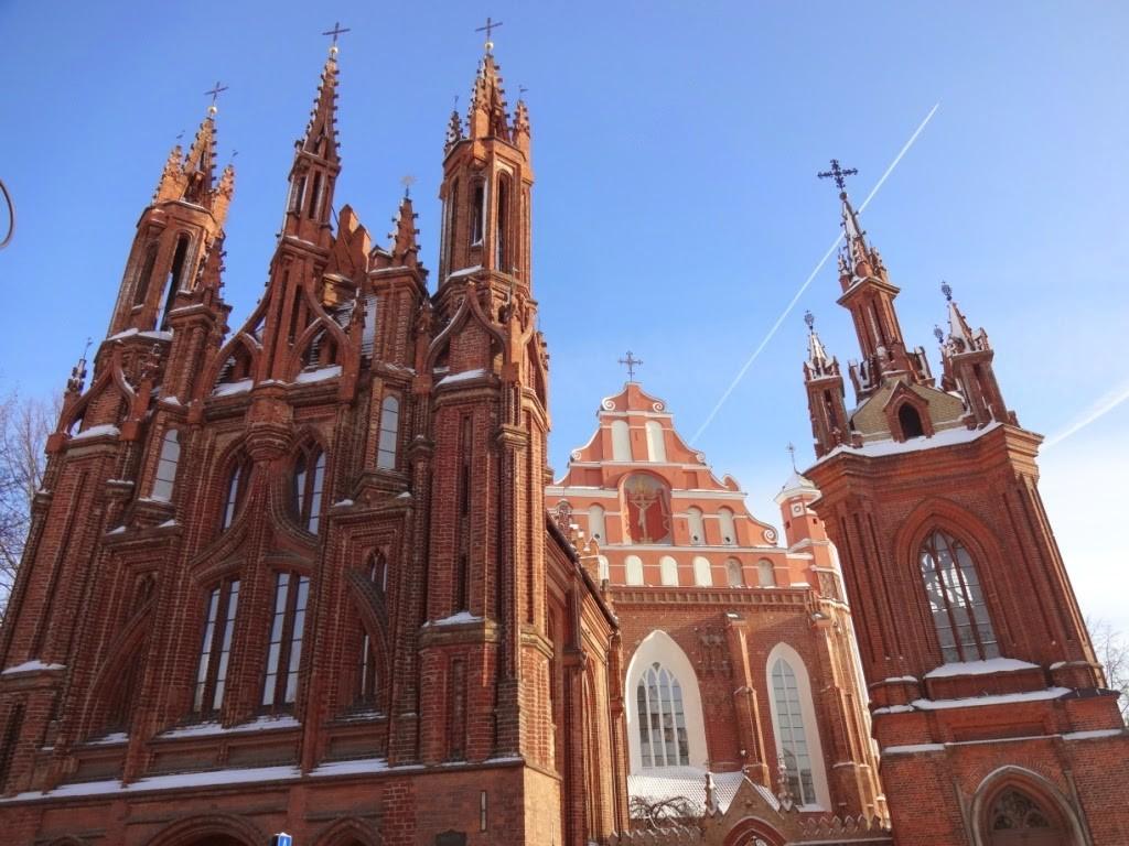 готический костел Святой Анны вильнюс