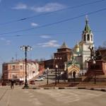 Прогулка по улице Рождественская в Нижнем Новгороде.