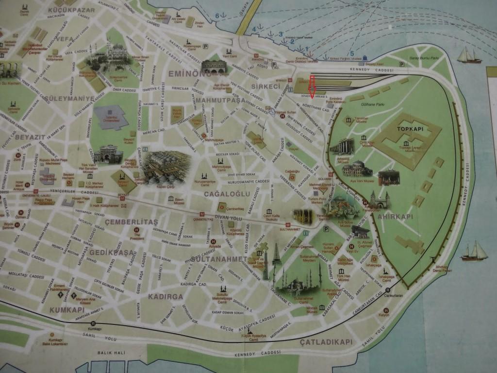 туристическая карта стамбула