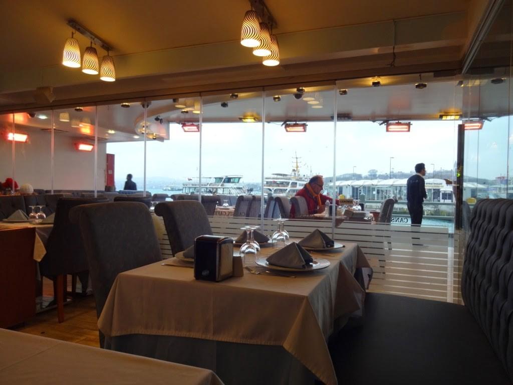стамбул ресторан на галатском мосту