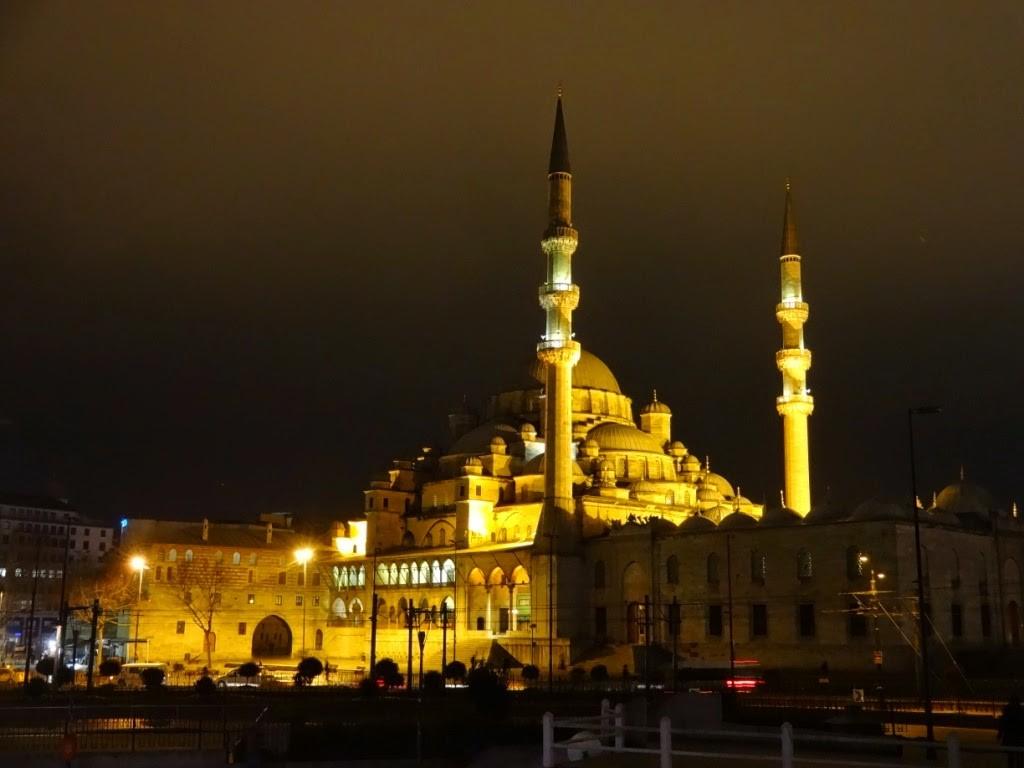 мечеть ночное фото стамбул
