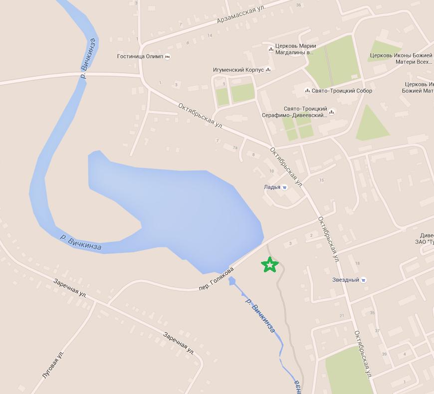 дивеево источник карта
