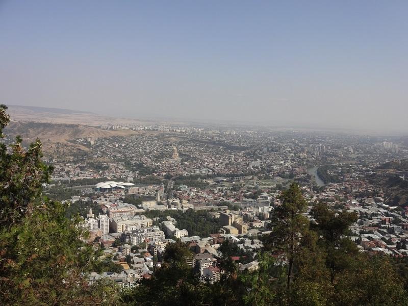 Тбилиси с высоты птичьего полета