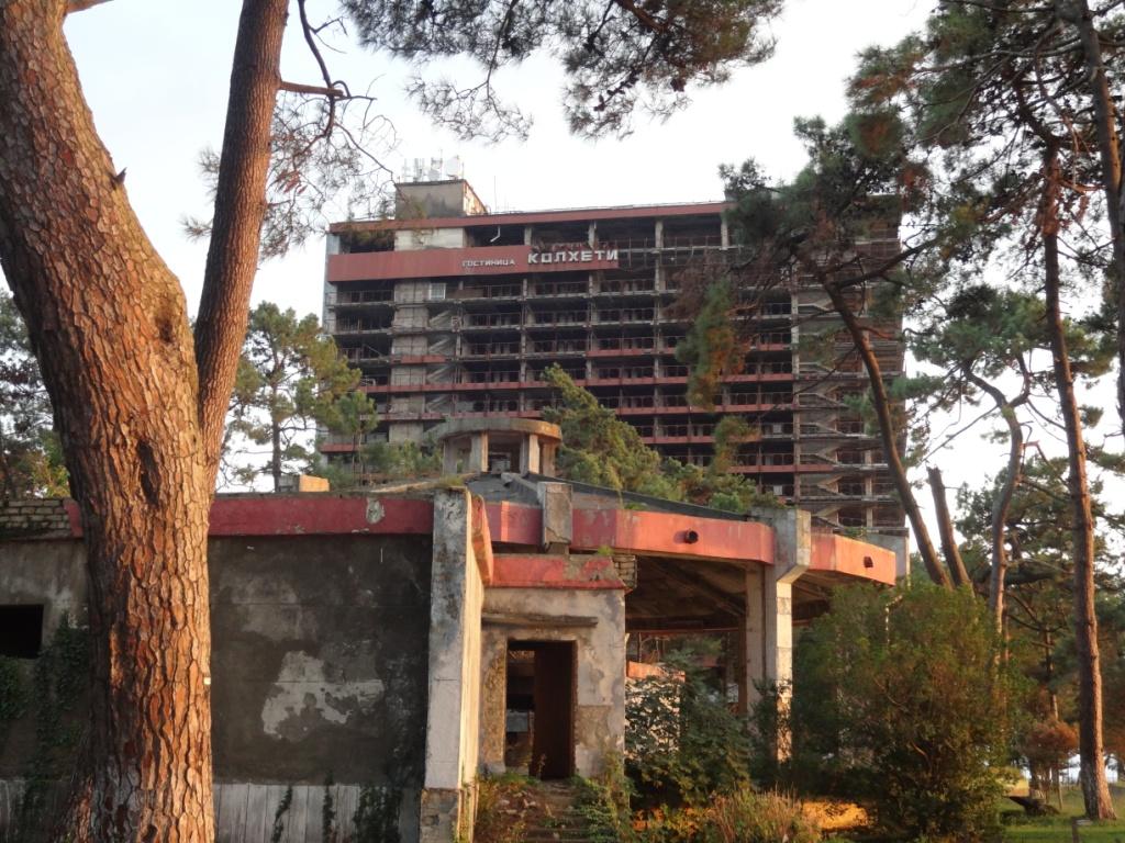 разрушенная гостиница колхети кобулети