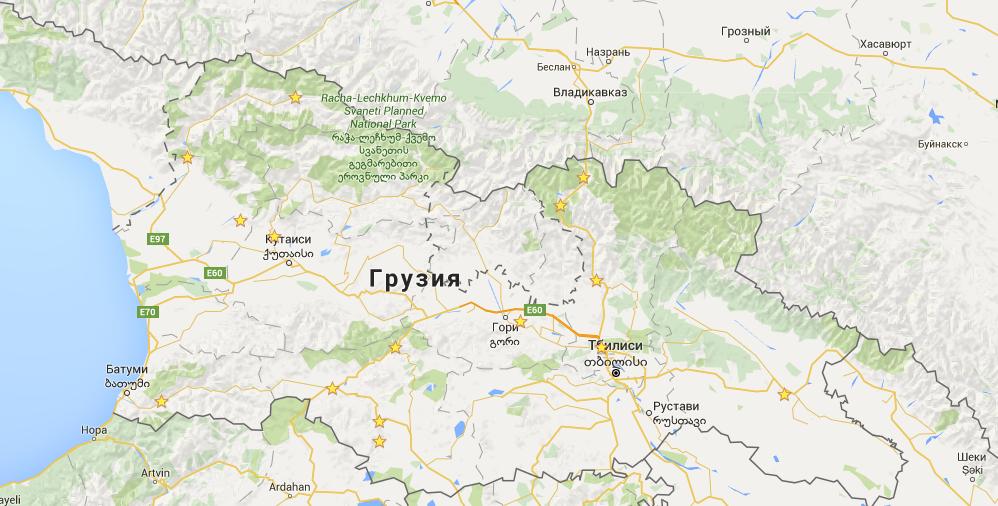 грузия карта