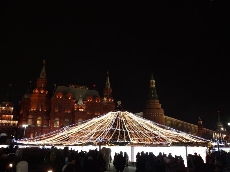 новогодняя москва кремль 2016 манежная площадь