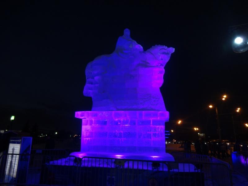 ледяные скульптуры москва 2016