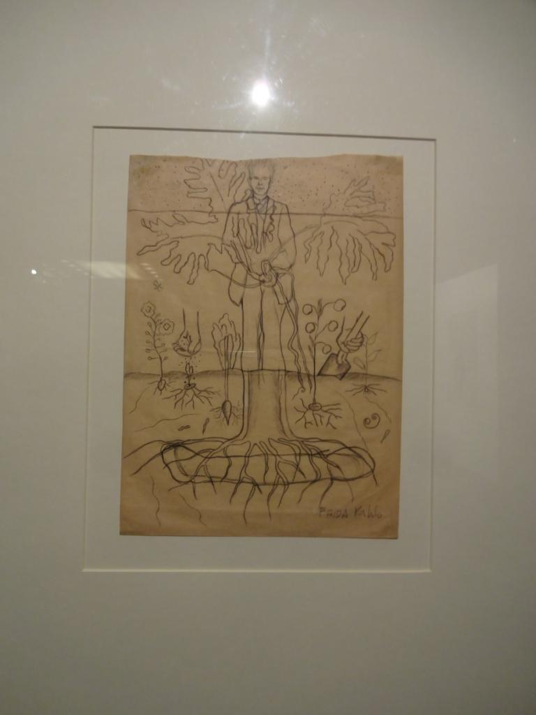 карандашный набросок картины фриды кало