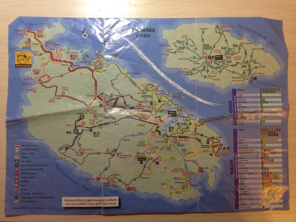 карта автобусов мальта