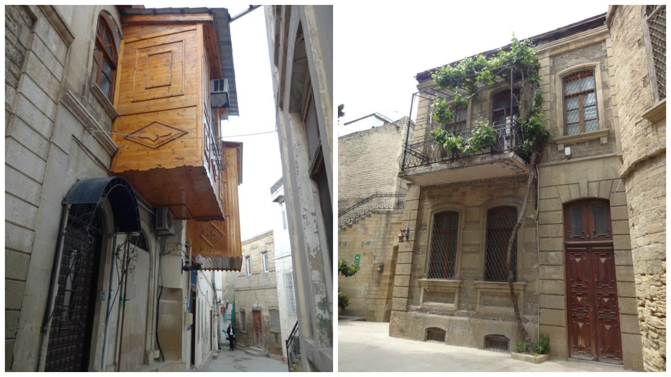 старый город баку балконы