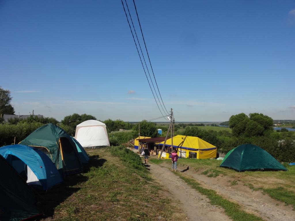 лагерь археологов старая рязань