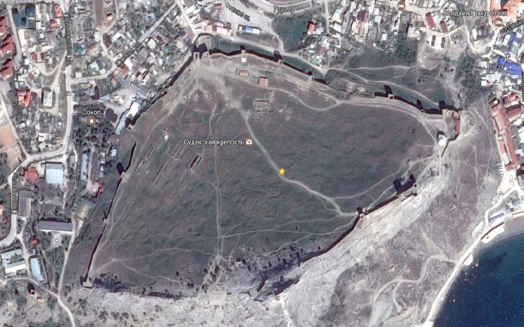 крепость судак карта