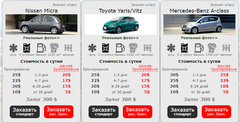 аренда авто грузия