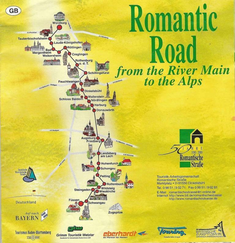 романтическая дорога германии