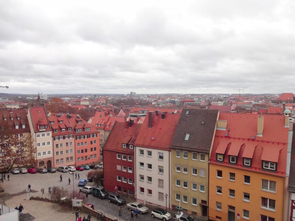 нюрнберг вид со смотровой площадки замка
