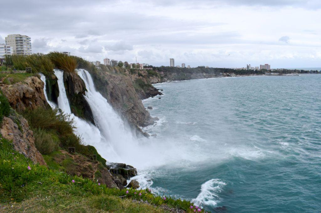 водопад нижний дюден в анталье