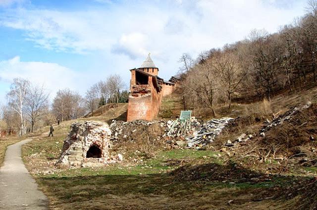 Зачатьевская башня до восстановления