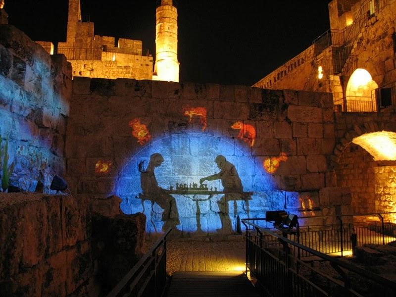 светомузыкальное шоу иерусалим