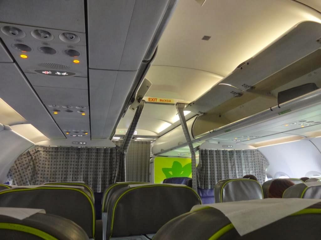 Салон самолёта S7