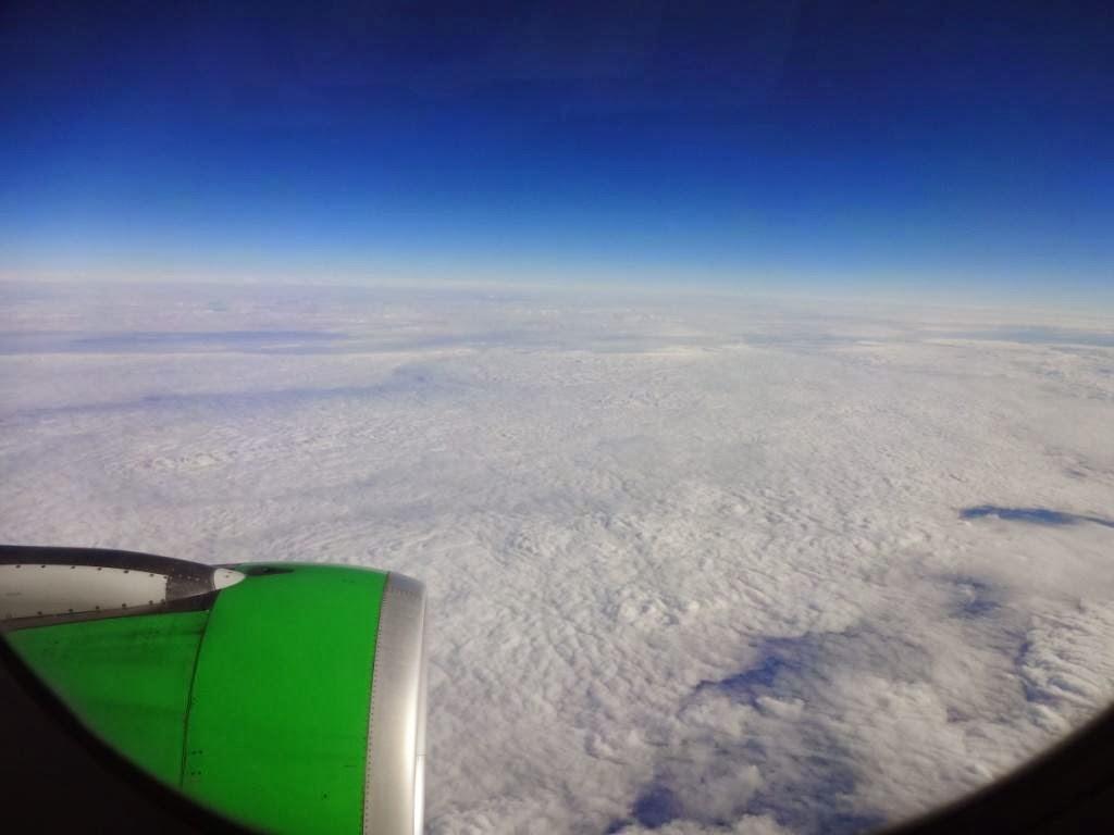 Вид из окна самолёта S7