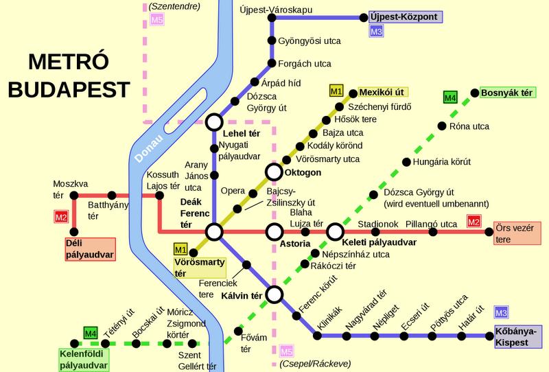 Будапешт карта метро