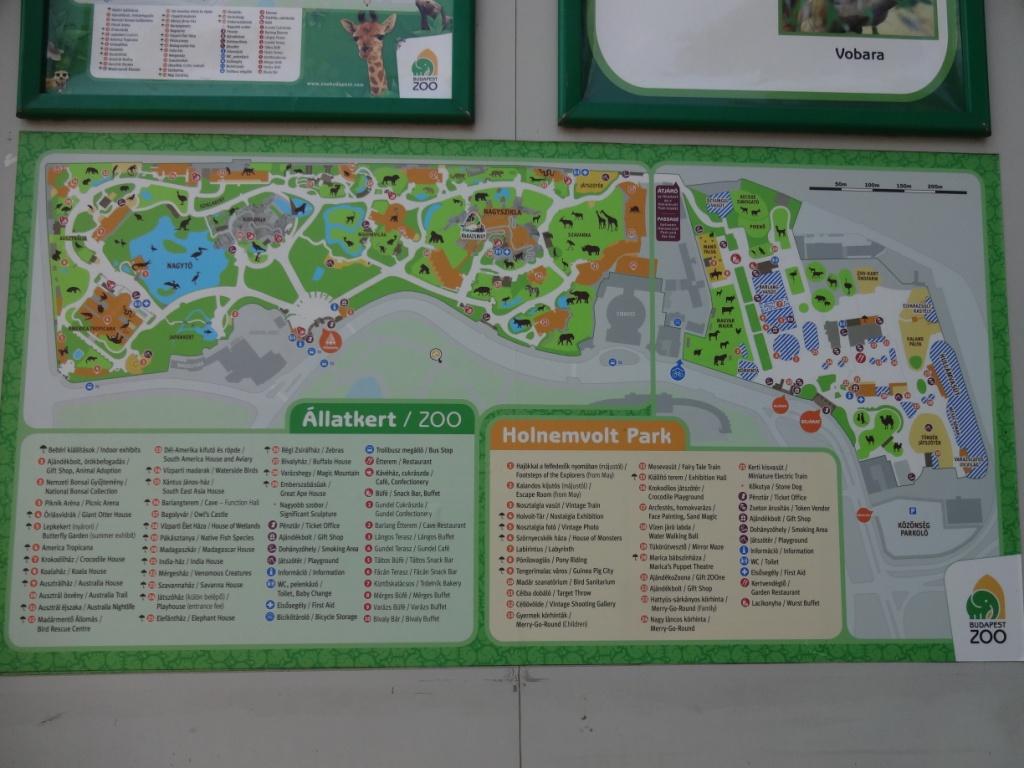 карта зоопарка будапешт