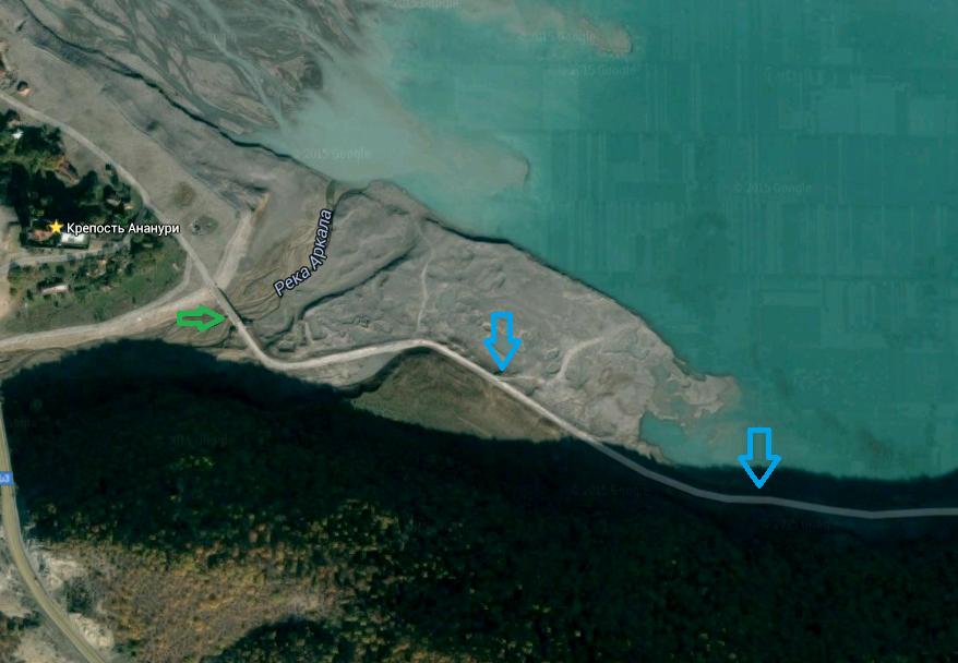 ананури карта водохранилища