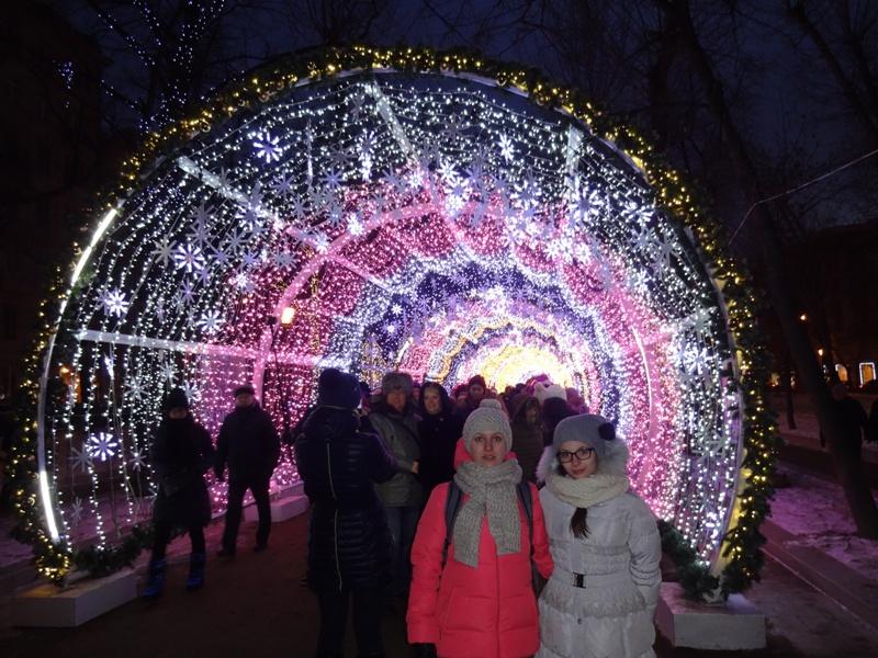 световой тоннель москва 2016