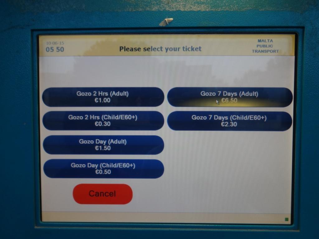 автобусные билеты гозо