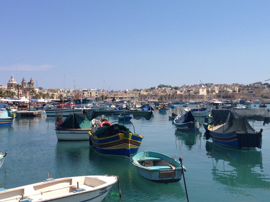 деревня марсашлок мальта лодки