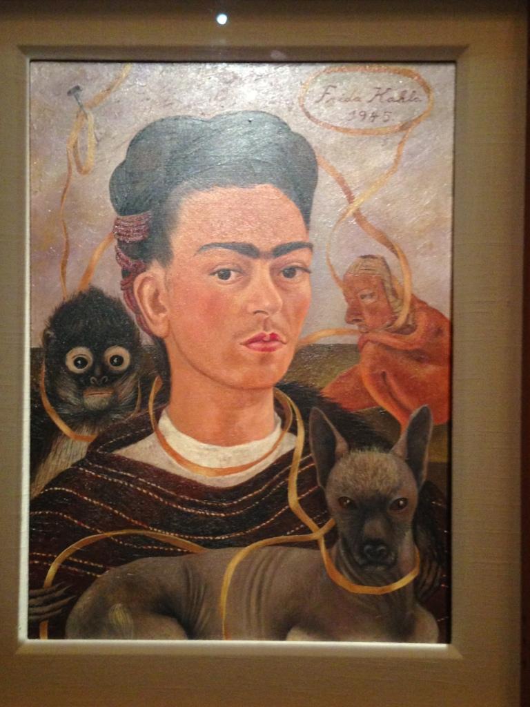 Фрида Кало - автопортрет с обезьянкой 2