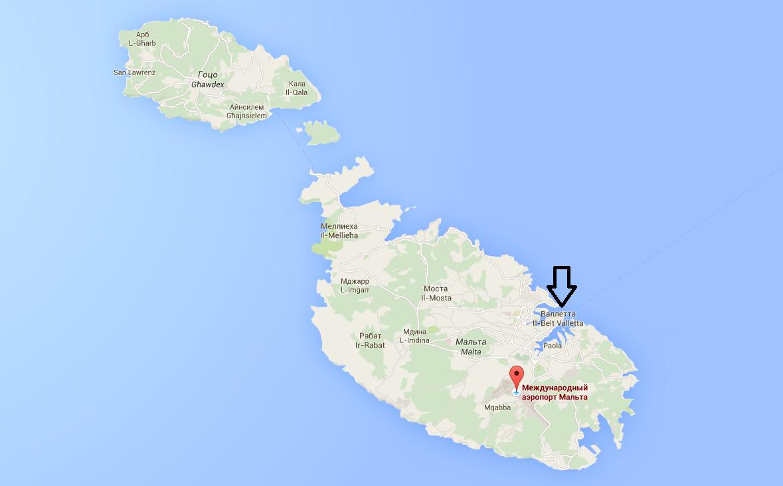 мальта аэропорт Лука на карте