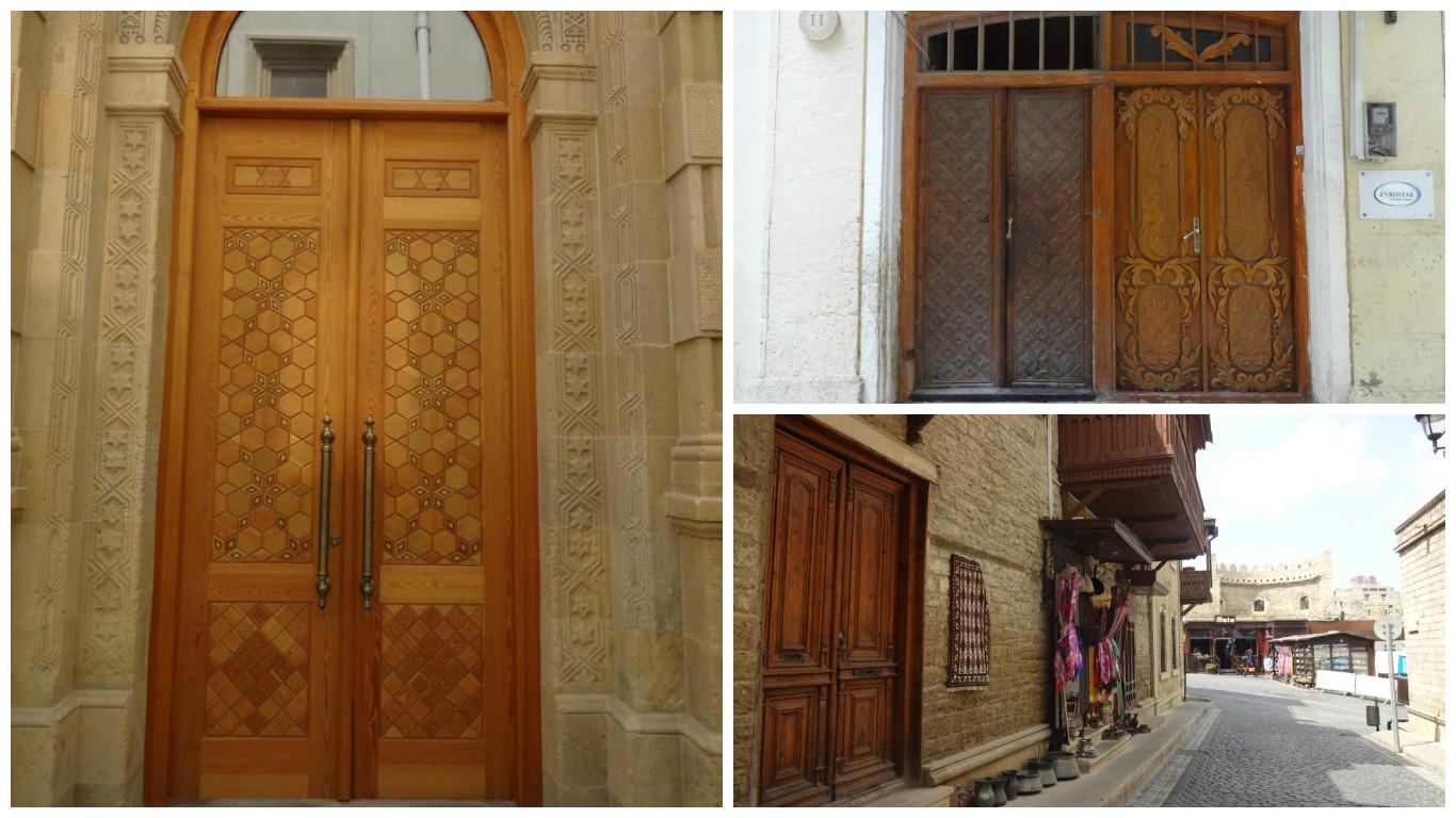 старый город баку двери
